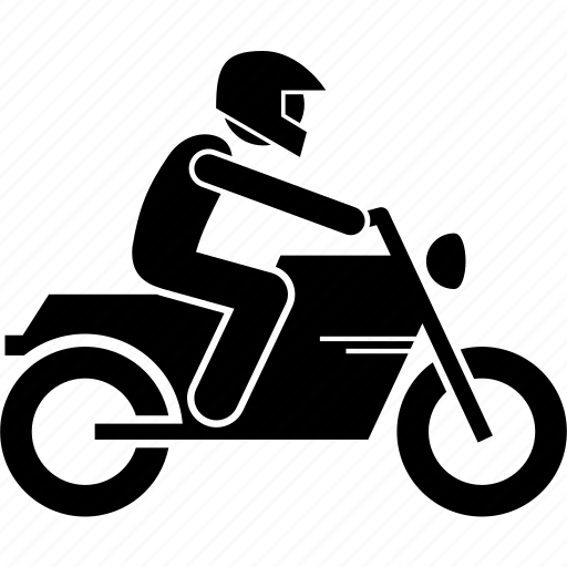 Bike Helmet Motorbike Motorcycle Motorist Rider Icon