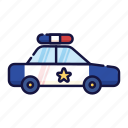 cop, enforcement, filled, law, outline, police, vehicle icon