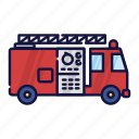 accident, brigade, filled, fire, fireman, outline, vehicle