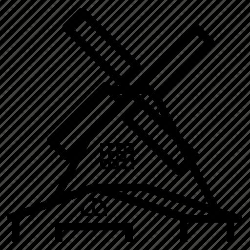dutch, holland, landmark, netherland, travel, windmill icon