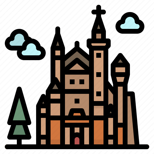 Castle, europe, germany, landmark, neuschwanstein icon - Download on Iconfinder