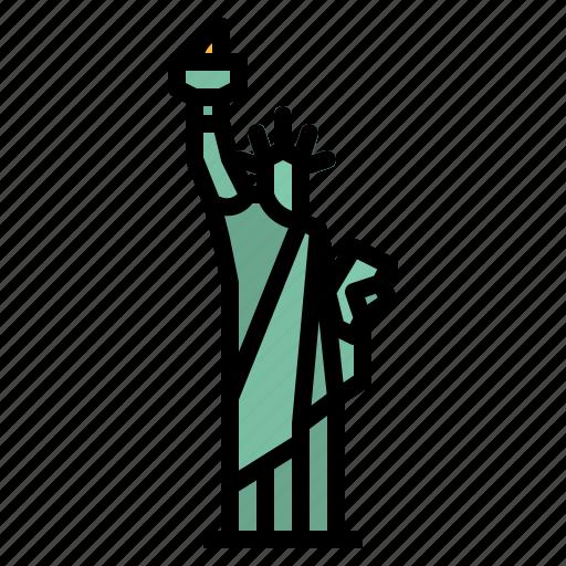 America, landmark, liberty, statue, usa icon - Download on Iconfinder