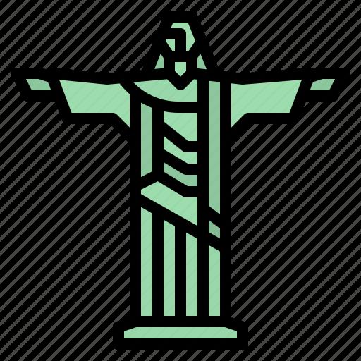 brazil, christ, redeemer, rio, statue icon