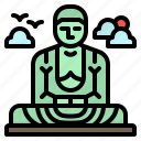 buddha, daibutsu, great, japan, kamakura