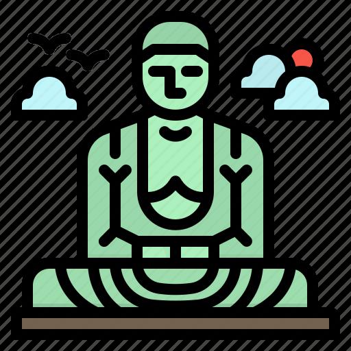 Buddha, daibutsu, great, japan, kamakura icon - Download on Iconfinder