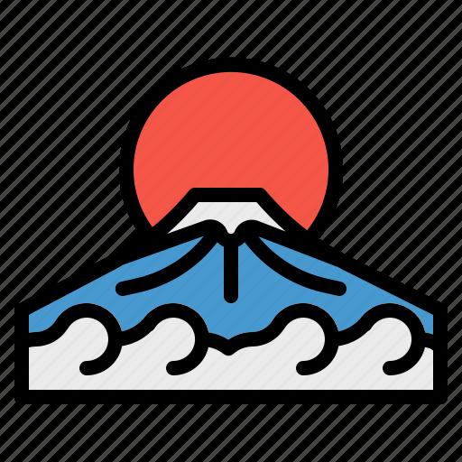 fuji, japan, japanese, landscape, mountain icon