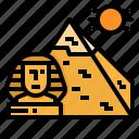 egypt, giza, landmark, pyramids, sphinx
