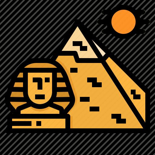 egypt, giza, landmark, pyramids, sphinx icon