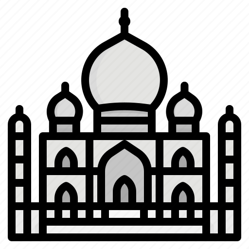 India, landmark, mahal, monuments, taj icon - Download on Iconfinder
