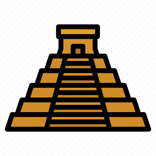 chichen, itza, landmark, mexico, pyramid icon