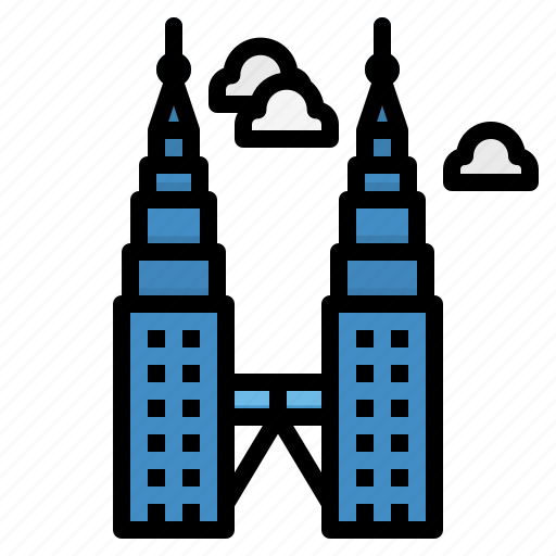 Engineering, malaysia, petronas, towers, twin icon - Download on Iconfinder