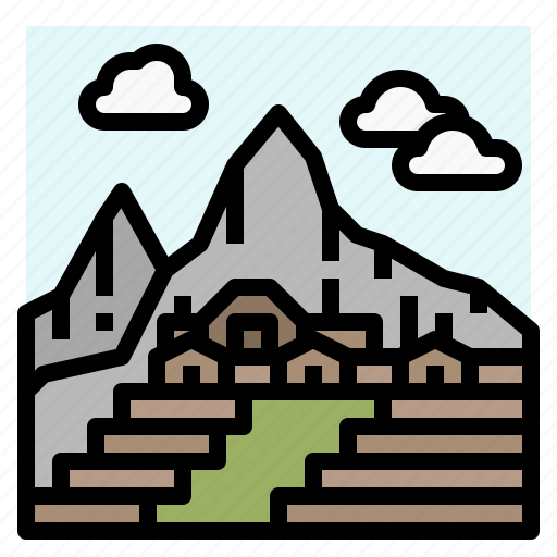 architecture, city, machu, peru, picchu icon