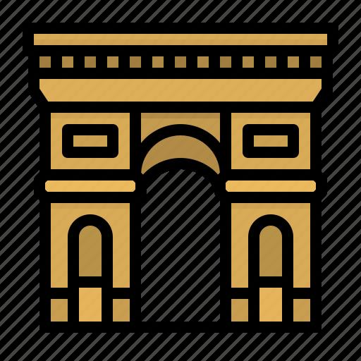 Arc, architecture, france, paris, triomph icon - Download on Iconfinder