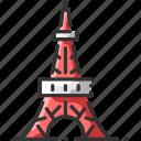 architecture, japan, landmark, tokyo, tourism, tower, view icon