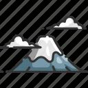fuji, japan, landmark, landscape, mountain, nature, tokyo icon