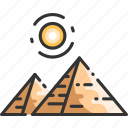 cairo, desert, egypt, egyptian, giza, landmark, pyramid icon