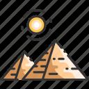 cairo, desert, egypt, egyptian, giza, landmark, pyramid