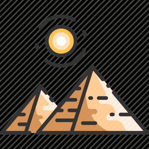cairo, desert, egypt, egyptian, giza, landmark, pyramid icon