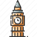 architecture, ben, big, clock, landmark, london, tower icon