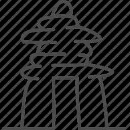 canada, gate, inuksuk, landmark, stone, travel icon