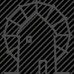 greece, greek, mykonos, santorini, windmill icon