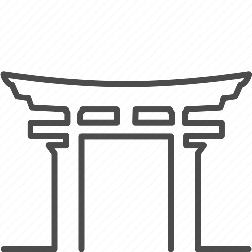 gate, japan, japanese, landmark, torii, travel, wood icon