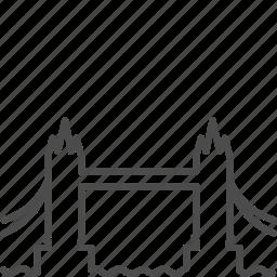 bridge, britain, england, landmark, london, thames, tower bridge icon