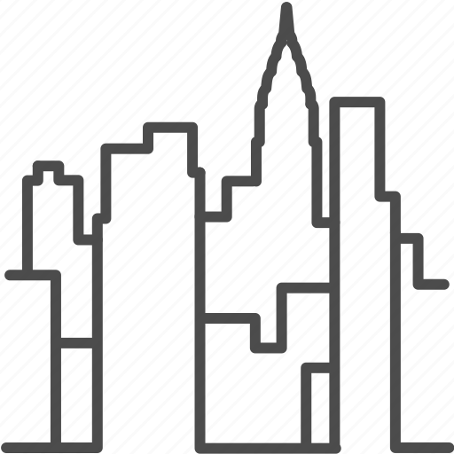 america, building, city, landmark, manhattan, new york, skyline icon