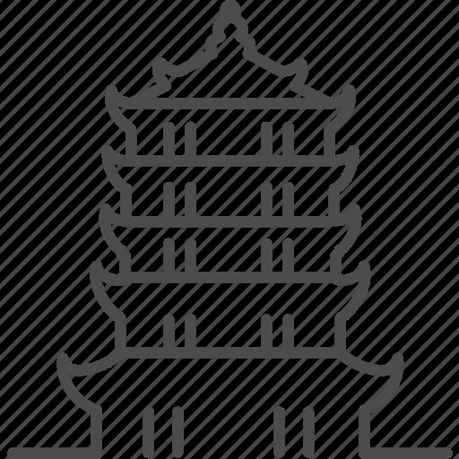 building, china, chinese, house, landmark, pagoda, tower icon