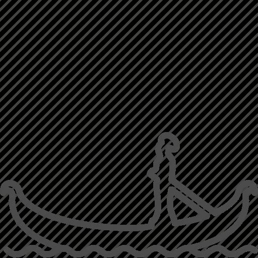 boat, canal, channel, gondola, italy, venezia, venice icon