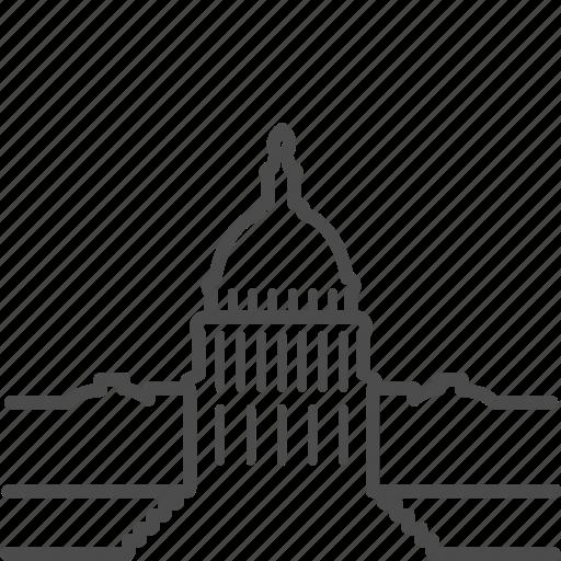 america, government, landmark, usa, washington, white house icon