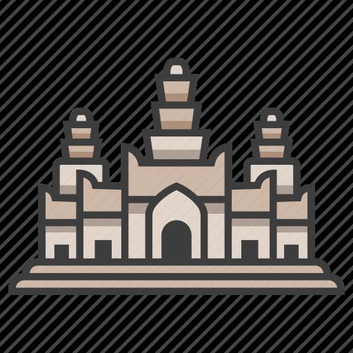 angkor wat, architecture, cambodia, landmark, monument, temple, tourism icon