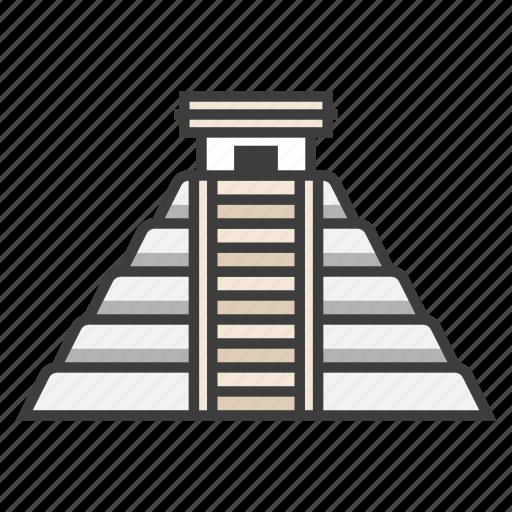 ancient, chichen itza, landmark, maya, pyramid, temple, tourism icon