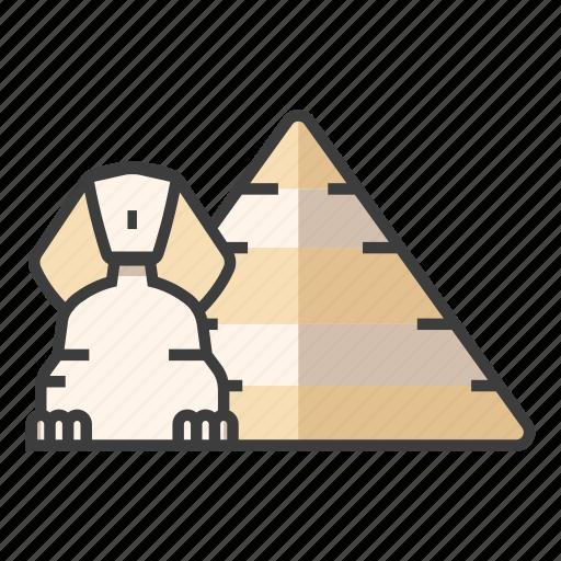 architecture, cairo, egypt, great sphinx of giza, landmark, pyramid, tourism icon