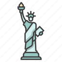 architecture, freedom, independence, landmark, monument, statue of liberty, usa icon