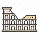 italy, coliseum, roman, rome, architecture, landmark, colosseum icon