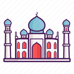 ancient, asia, india, landmark, moslem, mosque, taj mahal icon