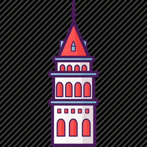 galata, historical, landmark, tower, turkey icon