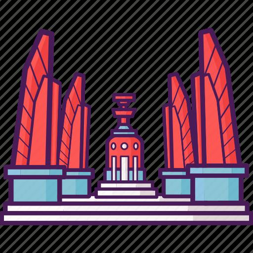 bangkok, democracy, landmark, monument, tourist icon