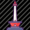 indonesia, landmark, monument, national, tourist