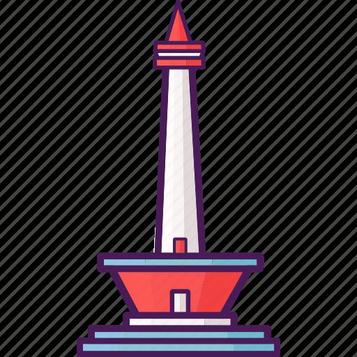 indonesia, landmark, monument, national, tourist icon