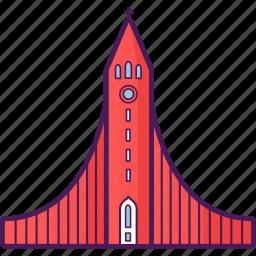 building, church, hallgrimskirkja, iceland, landmark, structure icon