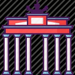 berlin wall, german, historical, landmark, tourist, wall icon