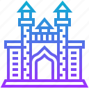 atlantis, building, landmark, plam icon