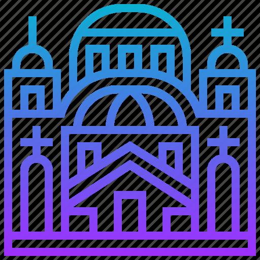 building, cathedral, landmark, saint, sava icon