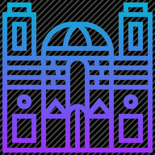 building, cathedral, cusco, landmark icon