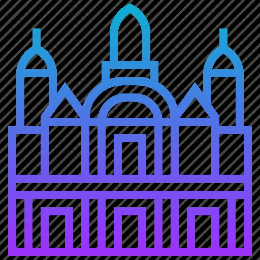 building, dresden, frauenkirche, landmark icon