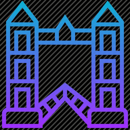 bridge, building, landmark, london icon