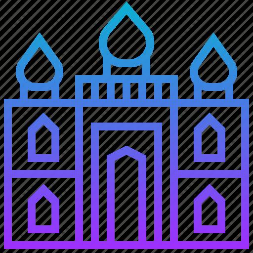 building, landmark, mahal, taj icon