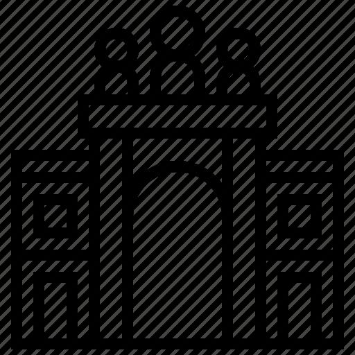 arch, augusta, building, landmark, rua icon